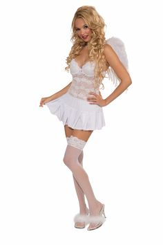 Sexy Costume Mini Skirt Adult: White