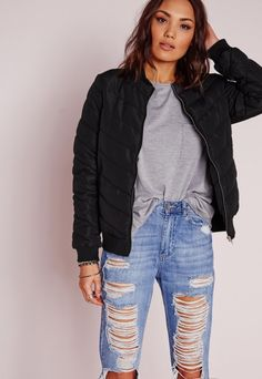 Get the look this season in this hot topic new puffa jacket from us at missguided. This new style is one to watch and will ensure an on fleek finish to all of your day time looks. With kickass padded fabric and ribbed collar and cuff detail...
