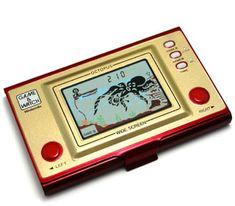 ゲーム&ウォッチ  1980年~  1980年から任天堂が発売した携帯型液晶ゲーム機。
