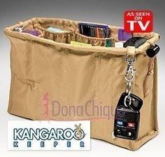 Organizador Kangaroo Bolsa Feminina Bege Pronta Entrega - R$ 19,90 em Mercado Livre