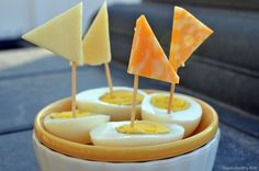 Cheese Sailboats for