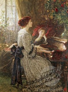 Stock Photo #1661-281, Old Songs Frank Dicksee (1853-1928 British)