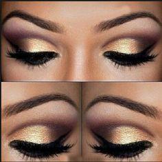 Formal Makeup #makeup #goldandblack