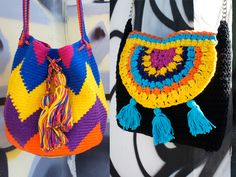 crochelier crochê bolsas coloridas