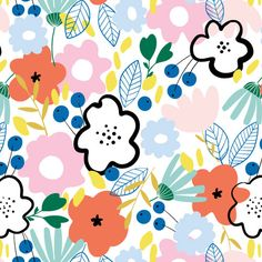 Cathy Nordström|Scandinavian Pattern Collection|Scandinavian Pattern Collectionは、テキスタイルパターンを中心とした北欧デザインコレクションです。 Textile Patterns, Textile Design, Print Patterns, Cute Wallpaper Backgrounds, Cute Wallpapers, Character Illustration, Illustration Art, Scandinavian Pattern, Ceramic Painting