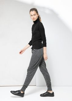 Flecked jogging trousers - Sweaters + cardigans to love for Women | MANGO $28