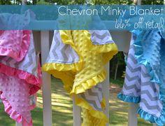 Chevron Minky Blankets