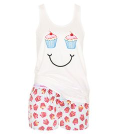 Peter Alexander Stripe Cup Cake PJ Set - Like  How these would be  comfortable summer Pjs + The pattern design. aa95ffca8