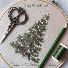 Basic Embroidery Stitches, Creative Embroidery, Silk Ribbon Embroidery, Hand Embroidery Patterns, Diy Embroidery, Cross Stitch Embroidery, Christmas Embroidery, Crochet, Sewing Projects