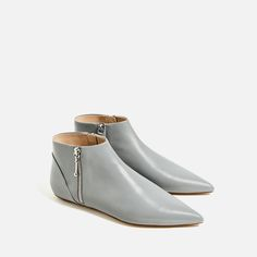 Image 3 of FLAT POINTED LEATHER ANKLE BOOTS from Zara