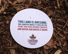 """""""Beer Company Creates 'Plantable Coasters' That Will Grow Into Trees"""" via design taxi"""
