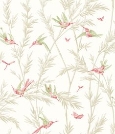 Waters Edge Willow/ Rose Pale Gold wallpaper by G P & J Baker