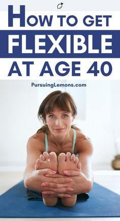 How To Get Flexible At Age 40 | As we age, we get stiffer and this restricts our movement or causes aches all over our body. Having good flexibility improves posture and relieves nagging body aches.Here are the 7 yoga poses you can easily practice on your own and help you regain flexibility after 40! #flexibility #over40 #getflexible #yoga Workouts For Teens, At Home Workouts, Yoga Workouts, Fitness Exercises, Yoga Poses For Beginners, Workout For Beginners, Yoga Lifestyle, Lifestyle Group, Healthy Lifestyle