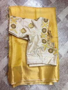 Ideas Embroidery Vintage Patterns Colour Informations About Ideas Embroidery Vintage Pattern Saree Blouse Neck Designs, Fancy Blouse Designs, Bridal Blouse Designs, Blouse Patterns, Blouse Models, Work Blouse, Blue Blouse, Blouse Styles, Saree Styles