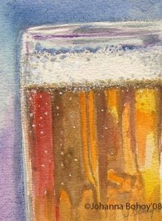 Beer mug painting, would look great over the bar #inspiration