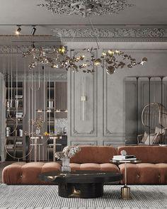 Luxury Homes Interior, Luxury Home Decor, Home Interior Design, Interior Architecture, Neoclassical Design, Villa, Classic Interior, Luxurious Bedrooms, Living Room Interior