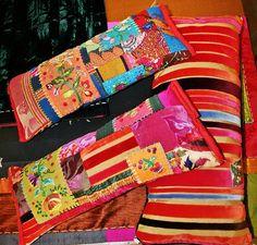 Patchwork e bordados feitos por Cyra Lobo.