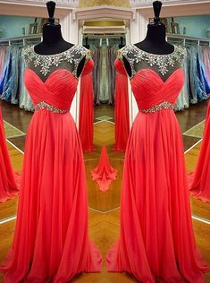 Buy Simple Prom Dress -A-Line Scoop Sleeveless with Rhinstone Prom Dresses under US$ 98.99 only in SimpleDress.