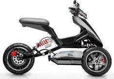 Sway Lithium : un 3 roues électrique fun - The Vehicles Electric Moped Scooter, Electric Trike, Electric Cars, Electric Vehicle, Scooter Garage, Trike Scooter, Le Tricycle, Velo Design, E Mobility