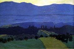 "Felix Valotton, Landscape in the Jura Mountains, 1900 (via ZsaZsa Bellagio – ""Like No Other: Creatively Colorful"")"