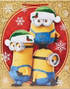 Minion Christmas, Christmas Labels, Little Christmas, Christmas Time, Christmas Crafts, Christmas Ornaments, Christmas Cartoon Characters, Christmas Cartoons, 3 Minions