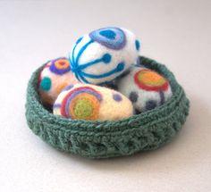 Crochet with Jute Twine | Twine jute bowl green Easter basket crochet for eggs by astashtoys, $ ...