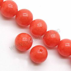 Gemstone Beads, Mountain Jade, Orange, Smooth round, Approx 8mm, Hole:Approx 1mm, Sold per 16-inch strand