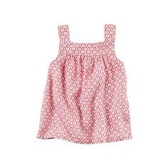 Girls 4-8 Carter's Print Shirred Tank Top, Girl's, Size: 7, Ovrfl Oth