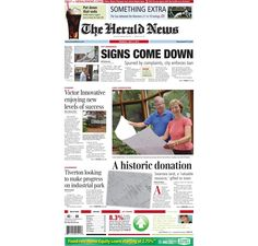 #HeraldNews #FrontPage for Monday, July 2, 2012.