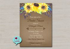 Bridal Shower Fall Autumn Flowers Sunflowers by lovebabble on Etsy