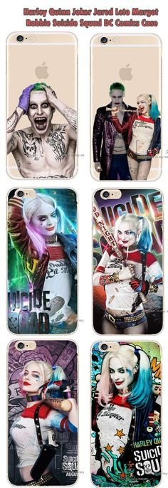 Harley Quinn Joker Jared Leto Margot Robbie Suicide Squad DC Comics Hard Case for iPhone 4 4S 5 5S SE 5C 6 6S 6/6S Plus, 7 7 Plus Galaxy J1 J5 J7 2015 2016 S6 S7 S7 Edge S5 S5 Mini