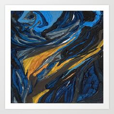 Starry Night Art Print by Sir Torr. Worldwide shipping available at Society6.com. Just one of millions of high quality products available.