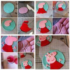Peppa Pig fondant tutorial (via  mamaesemrede.com).
