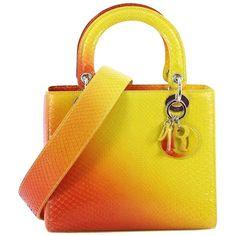 eb4fdb700db Christian Dior - Orange   yellow gradient python Lady Dior handbag ( 3
