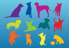 Silhuetas cães