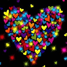 Stars and colors Love You Gif, Cute Love Gif, Cute Love Pictures, Beautiful Love Images, Love You Images, Emoji Pictures, Gif Pictures, Happy Birthday Video, Happy Birthday Wishes