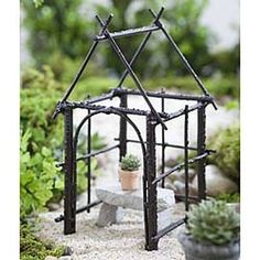 Fairy Garden Wildwoode Gazebo. Or, use as a topiary for ivy, etc. $22 @ The Everyday Home Shops http://www.farmhousedecorshop.com/wildewood-gazebo.html