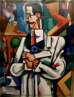 Amadeo de Souza Cardoso (Portuguese, Untitled (Portrait of Paul Alexander), 1917 Fernand De Magellan, Pop Art, Modernisme, Georges Braque, Art Database, Les Oeuvres, Art Museum, Sculpture Art, Art History