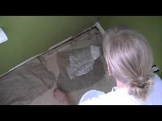 Tutorial for how to do the brown bag paper flooring