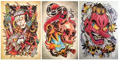 tattoo - The Art of David Tevenal Flash Drawing, Tatoo Designs, Japanese Tattoo Art, Asian Tattoos, Japan Tattoo, Motorcycle Art, Dope Art, Body Mods, Art Music
