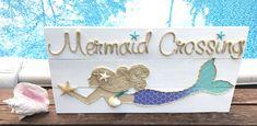 Natación a mano sirena cruce con playa cuerda por BeachByDesignCo
