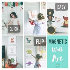 """""""This wall art is truly amazing! Magnets make it easy to hang AND switch out or flip over prints. Magnetic Wall, Magnets, Gallery Wall, Wall Art, Amazing, Frame, Easy, Prints, Instagram"""