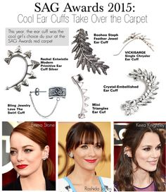 """""""SAG Awards 2015-Cool Ear Cuffs Take Over the Carpet"""" by kusja ❤ liked on Polyvore"""