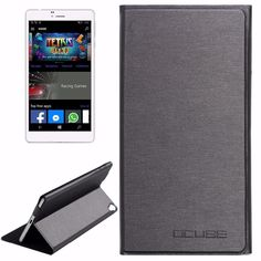 CUBE WP10 Steel Wire Texture Horizontal Flip Leather Case with Holder