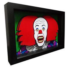 Stephen King Movie Art IT Pennwise Clown 3D Pop Art by PopsicArt, $25.00