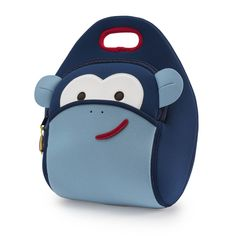 f1e76022e251 The Dabbawalla eco-friendly Blue Monkey lunch bag is perfect for kids and  adults. Machine-washable and non-toxic meal tote. Eco-friendly