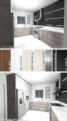 { kitchen renderings. modern kitchen. our red door }