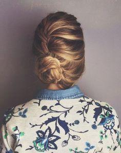 loosely braided bun
