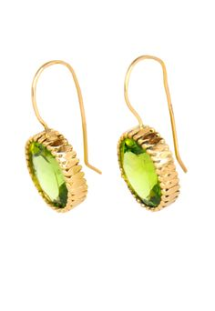 Katy Rodriguez Peridot & Gold Earrings #peridot #gold