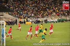 Bafana Bafana against Norway at the Cape Town Stadium Cape Town, Football Team, Norway, South Africa, Soccer, Public, African, Play, Reading
